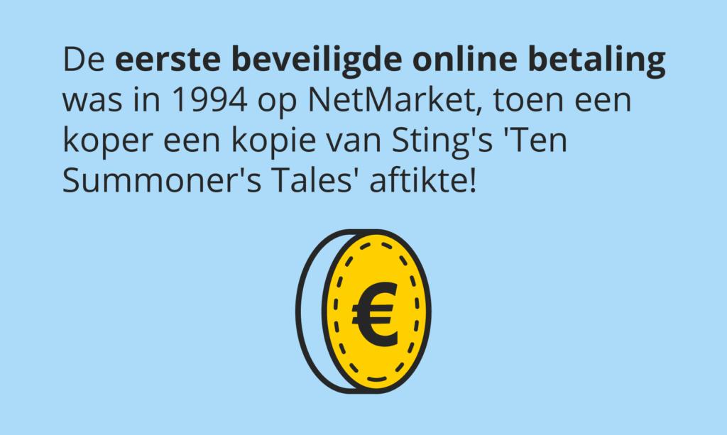 Allereerste beveiligde online aankoop ooit