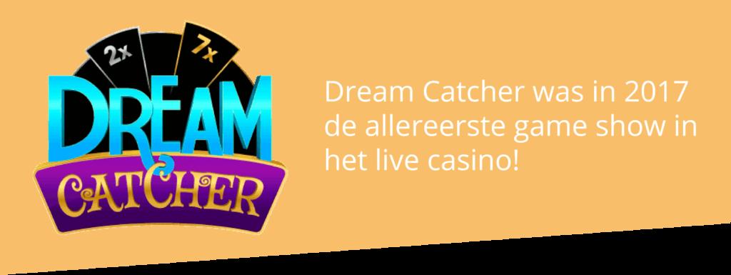 Eerste live casino game show ooit