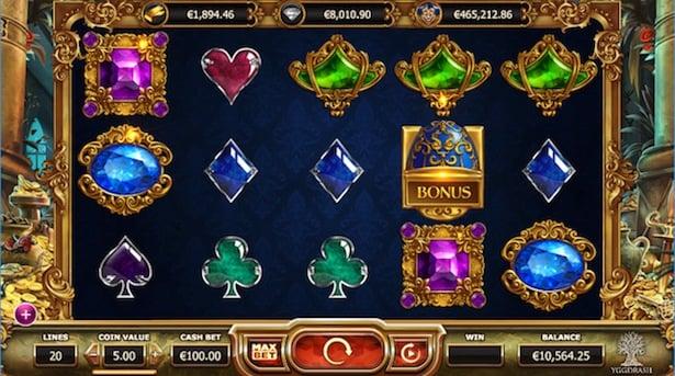 Empire Fortune slot speelveld