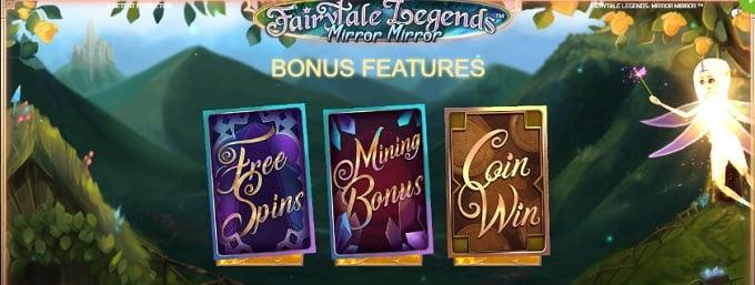 Fairytale Legends Mirror Mirror bonus features