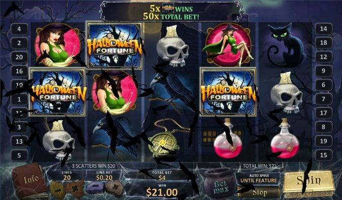 Halloween Fortune: de symbolen