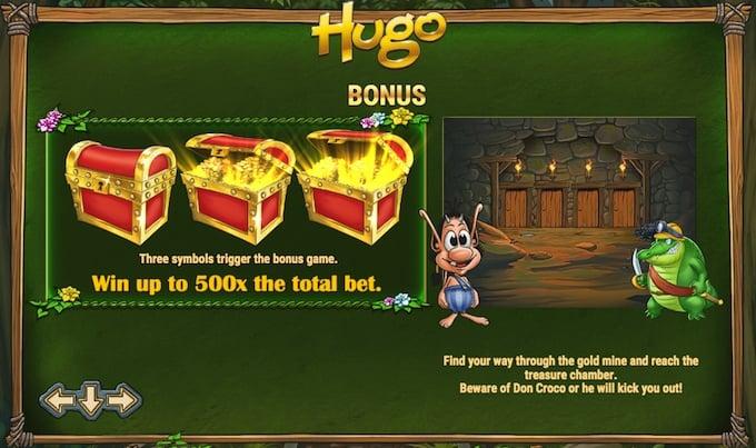 Hugo slot bonus