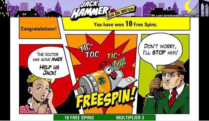 Jack Hammer gratis spins