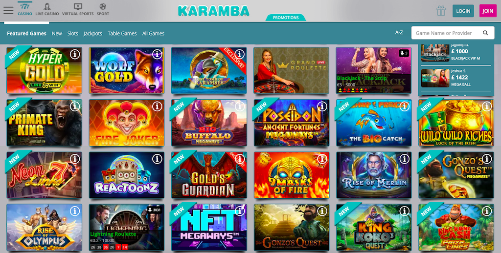 De spellen van Karamba