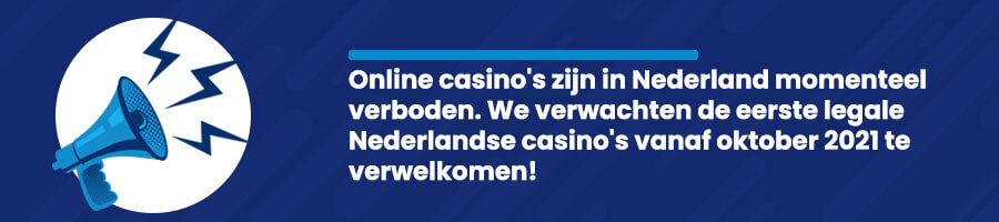Online casino's zijn momenteel illegaal in Nederland
