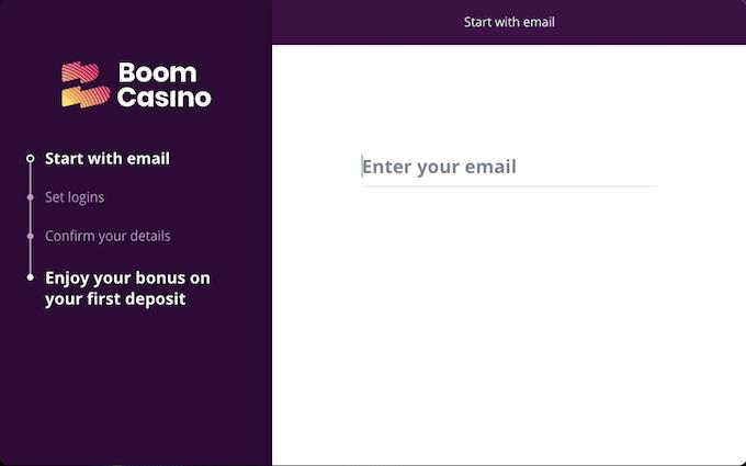 Registratie Boom Casino