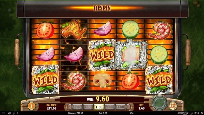 Sizzling Spins Re-spins feature