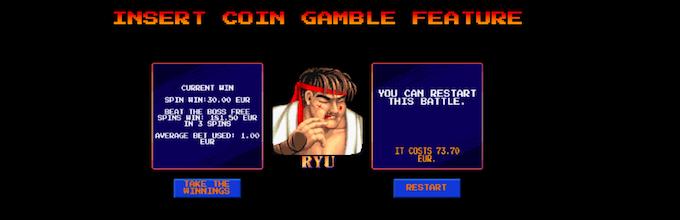 Street Fighter 2: The World Warrior Slot Insert Coin Gamble