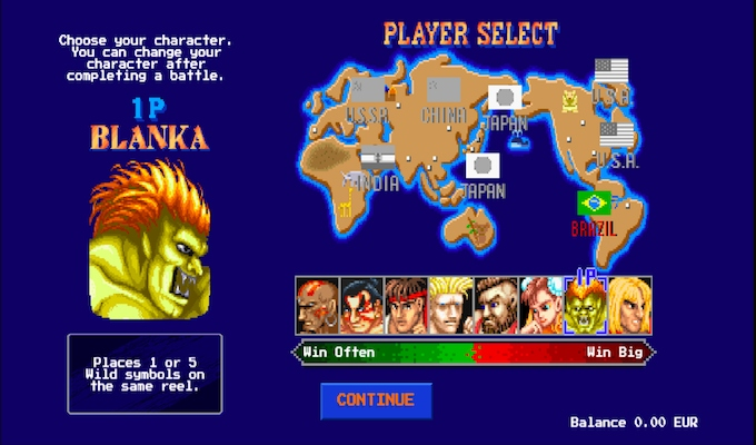 Street Fighter 2: The World Warrior Slot Intro