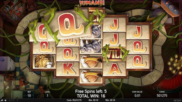 Jumanji free spins